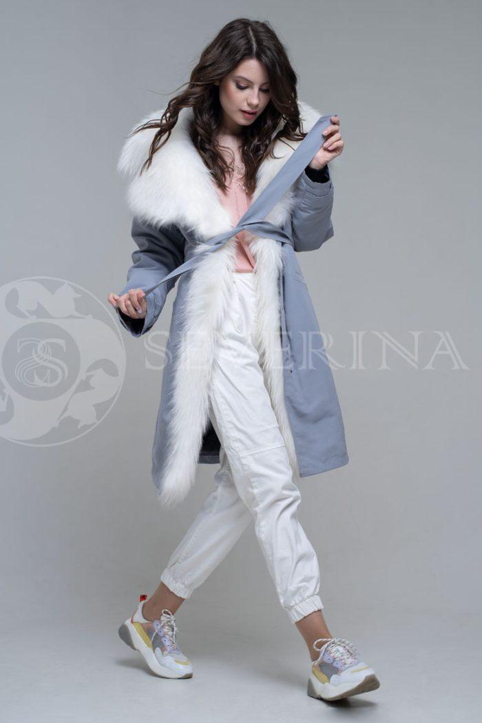 seraja2 700x1050 - куртка-парка с отделкой мехом лисы