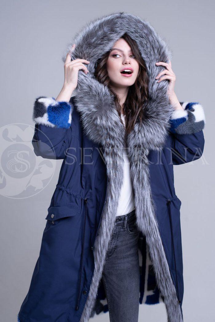 sinjaja1 700x1050 - двусторонняя куртка-парка из цветного меха норки