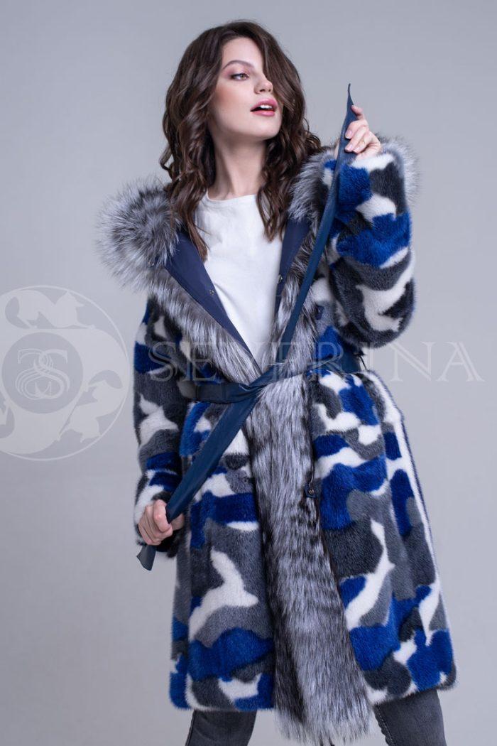 sinjaja4 700x1050 - двусторонняя куртка-парка из цветного меха норки