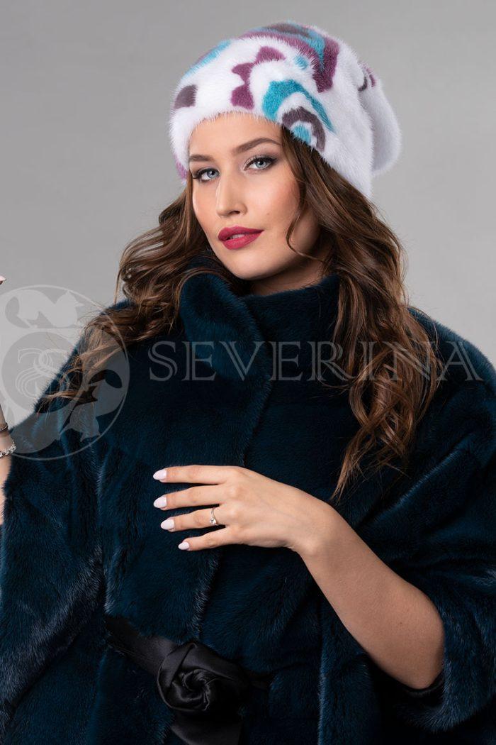 norka belaja cvety1 700x1050 - шапка из меха норки с инкрустацией