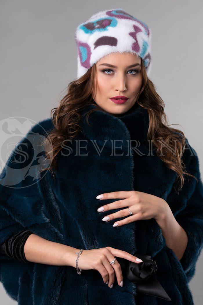 norka belaja cvety2 700x1050 - шапка из меха норки с инкрустацией