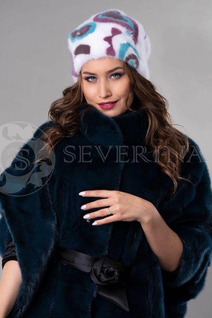 norka belaja cvety3 700x1050 - шапка из меха норки с инкрустацией