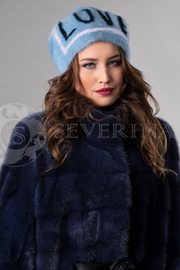 norka nezhno golubaja love3 700x1050 - шапка из меха норки с инкрустацией