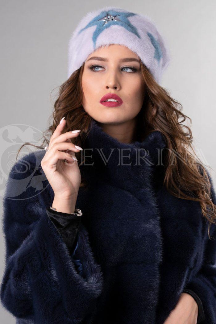 norka nezhno rozovaja golubye zvezdy2 700x1050 - шапка из меха норки с инкрустацией