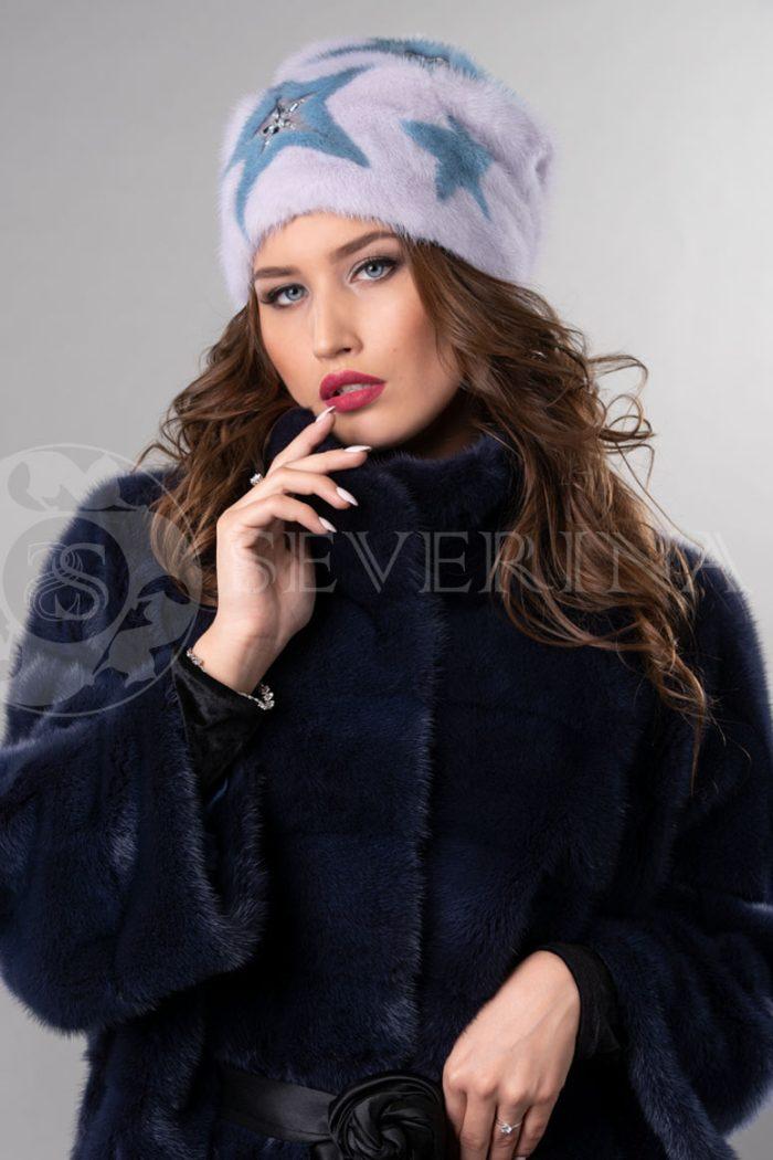 norka nezhno rozovaja golubye zvezdy3 700x1050 - шапка из меха норки с инкрустацией