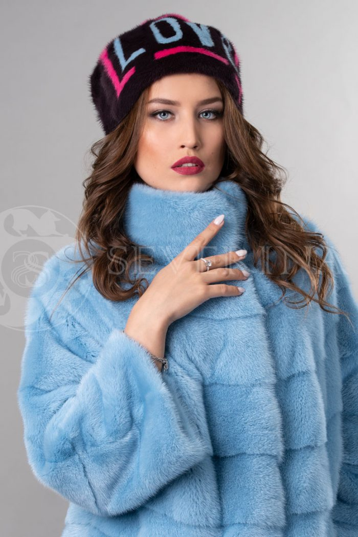 norka t.sinjaja love3 700x1050 - шапка из меха норки с инкрустацией