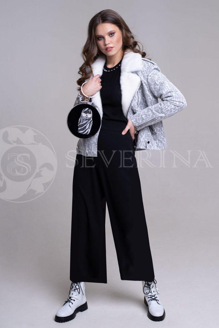 reptilija belaja1 700x1050 - куртка-дубленка с меховой отделкой