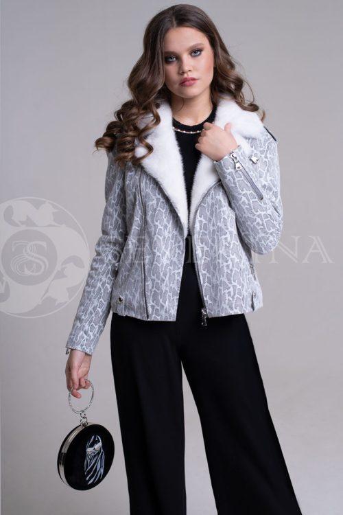 reptilija belaja2 500x750 - куртка-дубленка с меховой отделкой