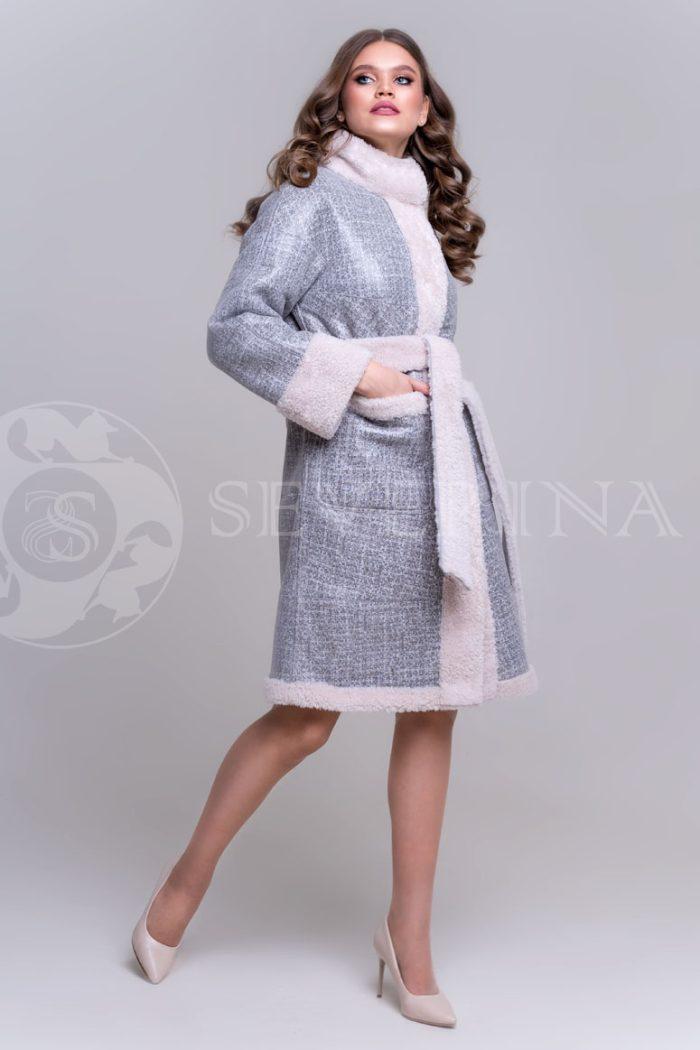 двустороннее пальто-дубленка из овчины