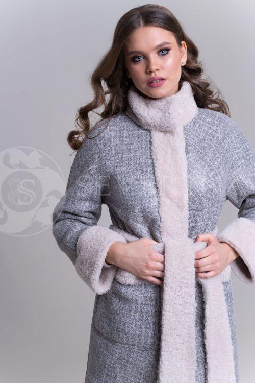 """куртка """"косуха"""" с отделкой из овчины и песца"""
