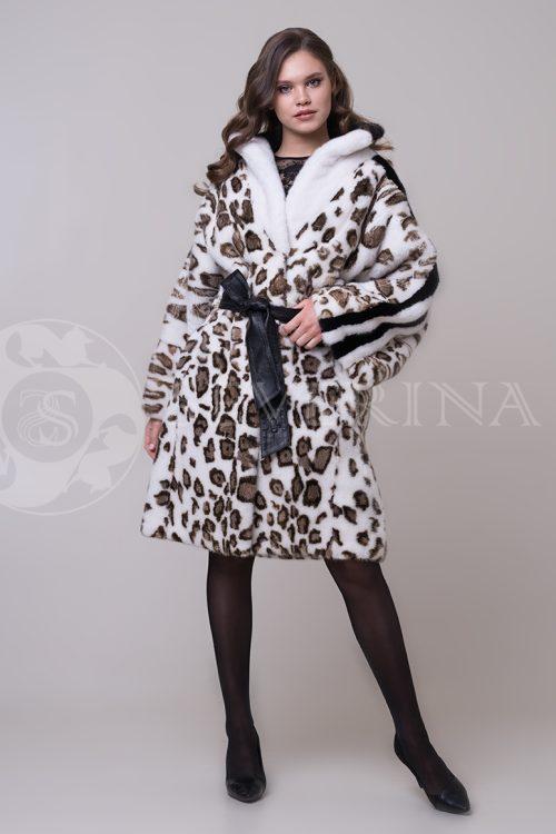"""shuba leopard belaja lampasy 4 1 500x750 - шуба из меха норки """"черный бриллиант"""" с воротником-капюшоном из меха рыси"""