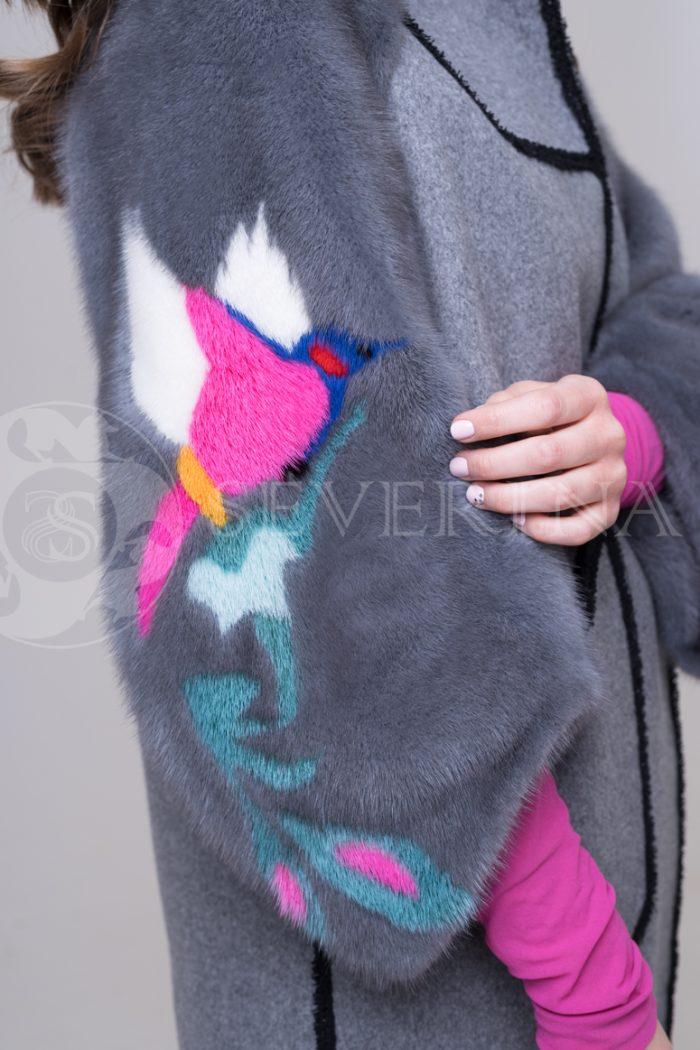 palto chanel 2 storonnee 1 storona 7 700x1050 - двустороннее пальто-дубленка с выработкой под твид Chanel и отделкой цветным мехом норки