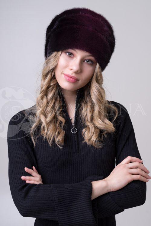 shapka degrade krasno chernaja 2 500x750 - шапка из меха норки