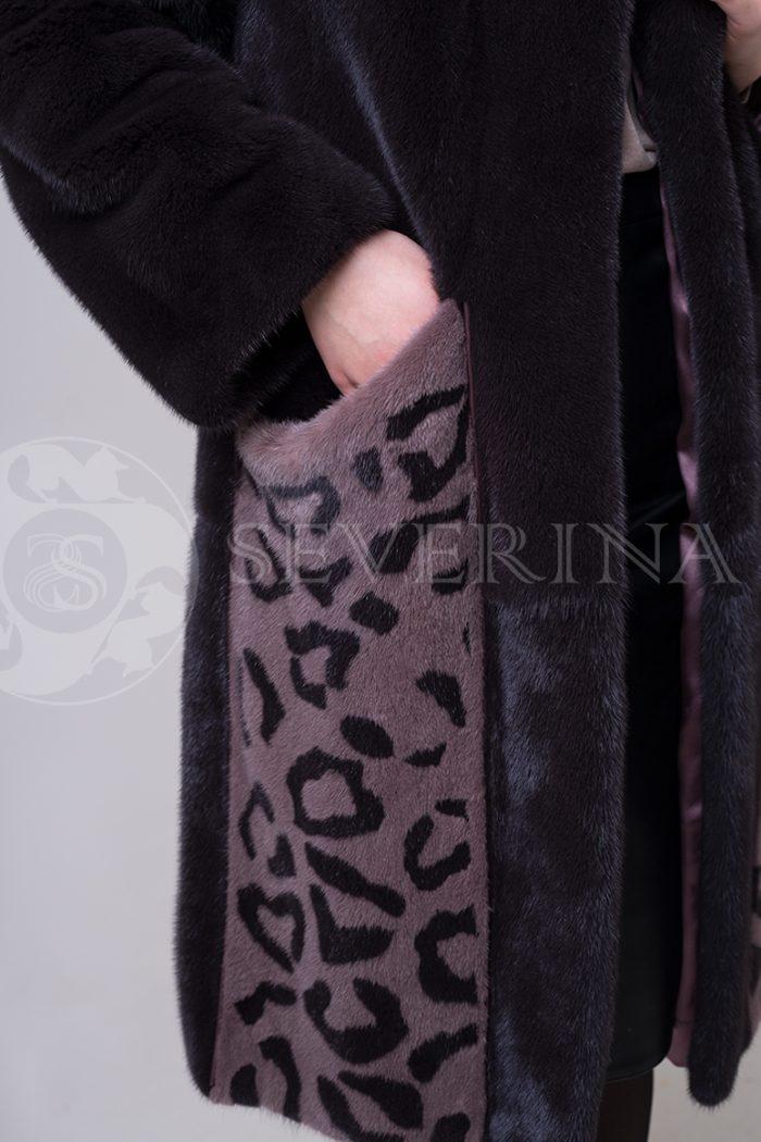 shuba norka t.kor lepard karmany 1 1 700x1050 - шуба из меха норки с леопардовыми карманами