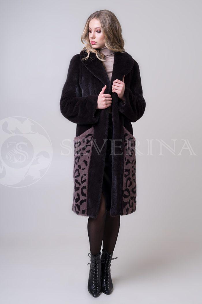 shuba norka t.kor lepard karmany 3 1 700x1050 - шуба из меха норки с леопардовыми карманами