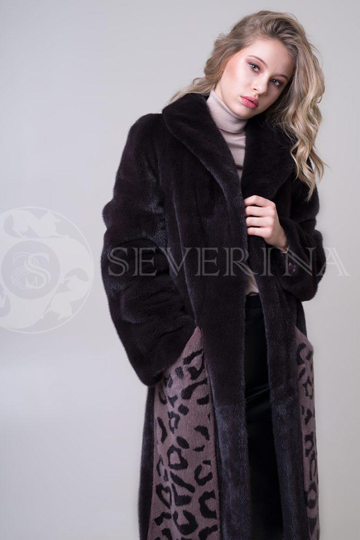 shuba norka t.kor lepard karmany 4 1 700x1050 - шуба из меха норки с леопардовыми карманами