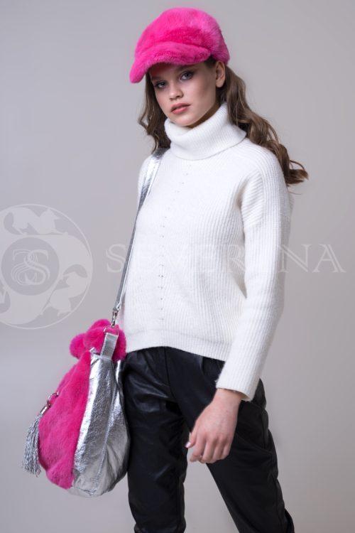 sumka rozovaja 2 500x750 - сумка из меха норки розового цвета