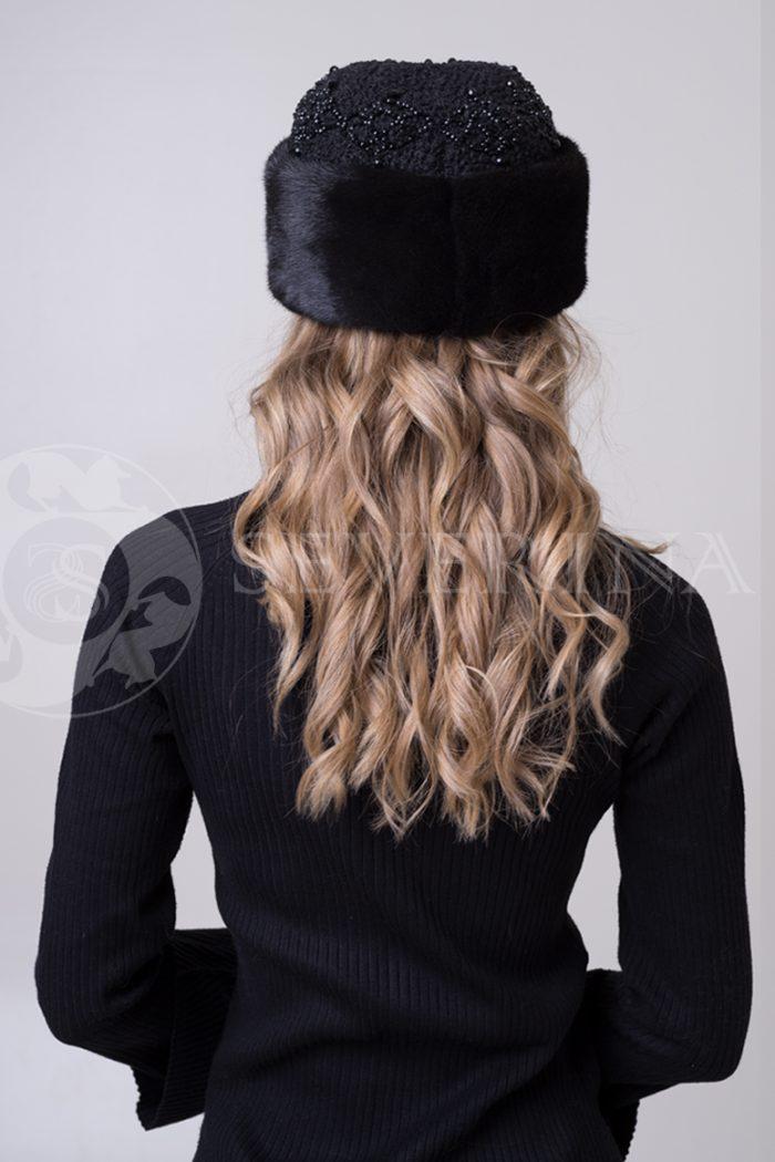 kubanka chernaja1 700x1050 - шапка из меха норки