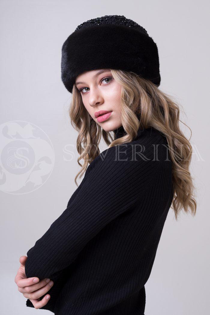 kubanka chernaja3 700x1050 - шапка из меха норки