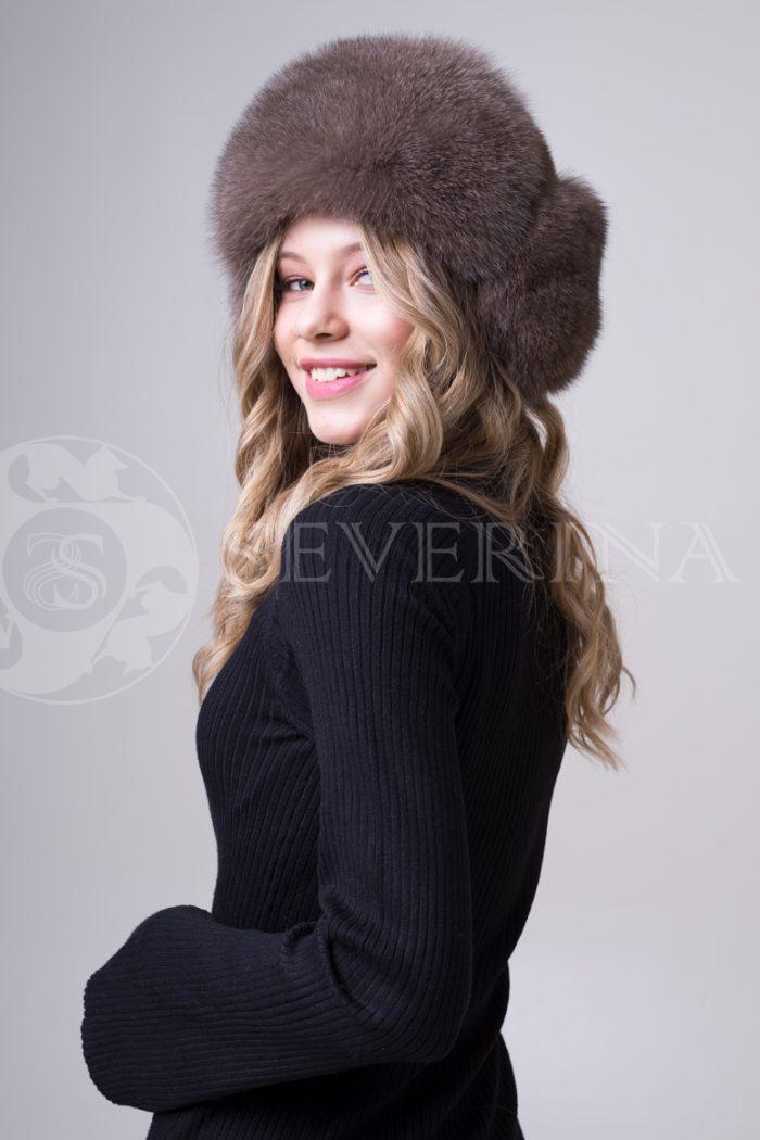 shapka ushanka pesec korichnevyj3 700x1050 - шапка из меха песца и норки