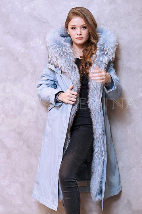golubaja lisa 1 500x750 - куртка-парка с отделкой мехом лисы