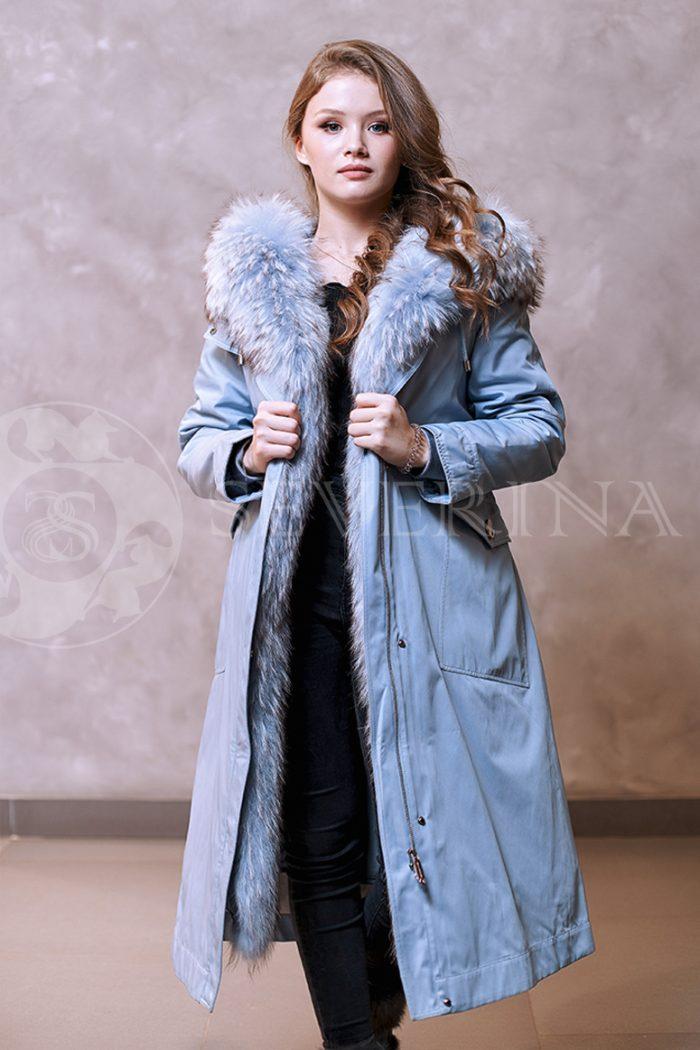golubaja lisa 3 700x1050 - куртка-парка с отделкой мехом лисы