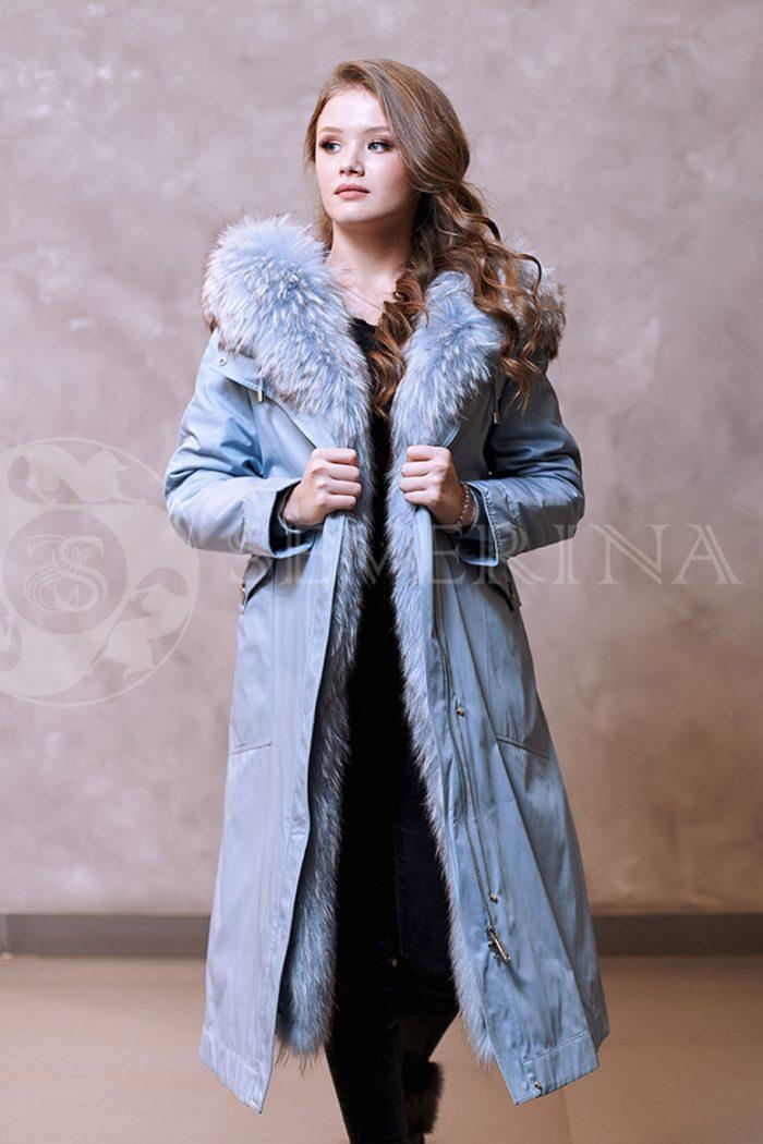 golubaja lisa 4 700x1050 - куртка-парка с отделкой мехом лисы