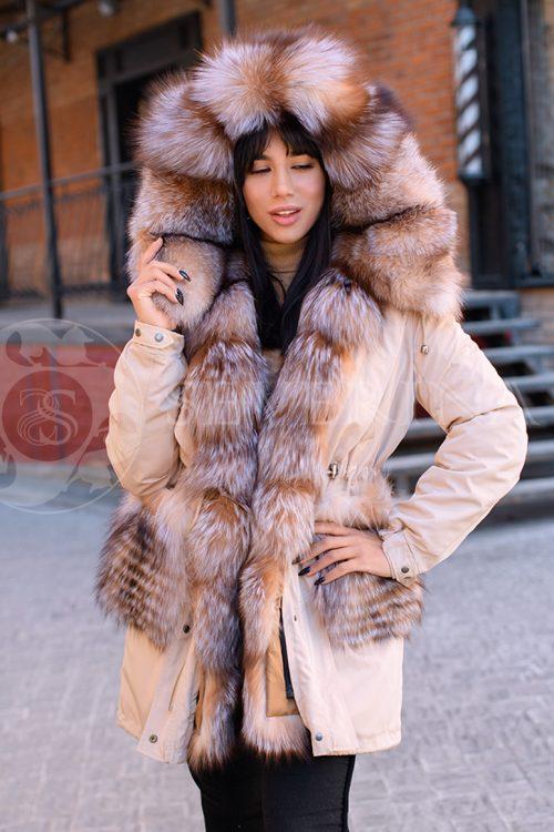 kjemjel lisa 2 500x750 - куртка-парка с отделкой мехом лисы