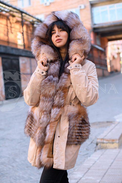 kjemjel lisa 3 500x750 - куртка-парка с отделкой мехом лисы