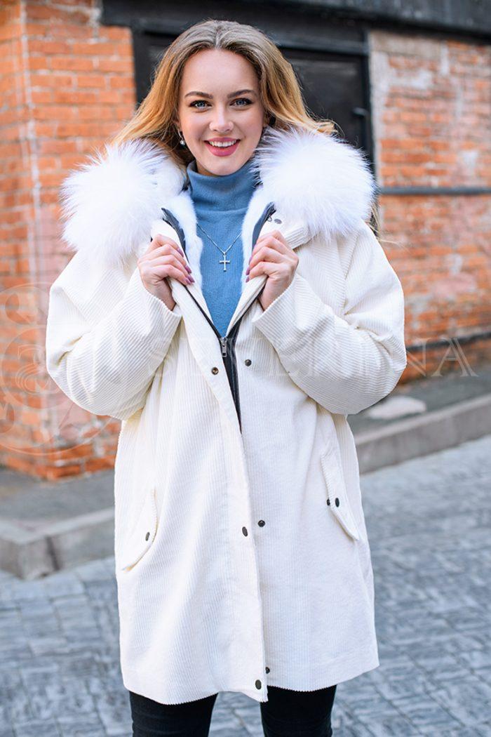 molochnaja velvet 1 700x1050 - куртка-парка с отделкой мехом песца