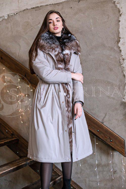 seraja lisa 1 500x750 - куртка-парка с отделкой мехом песца
