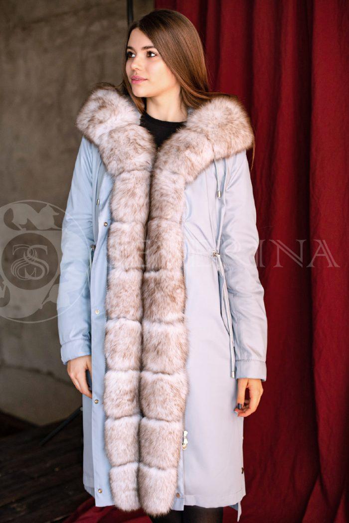 golubaja pesec 2 700x1050 - куртка-парка с отделкой мехом песца