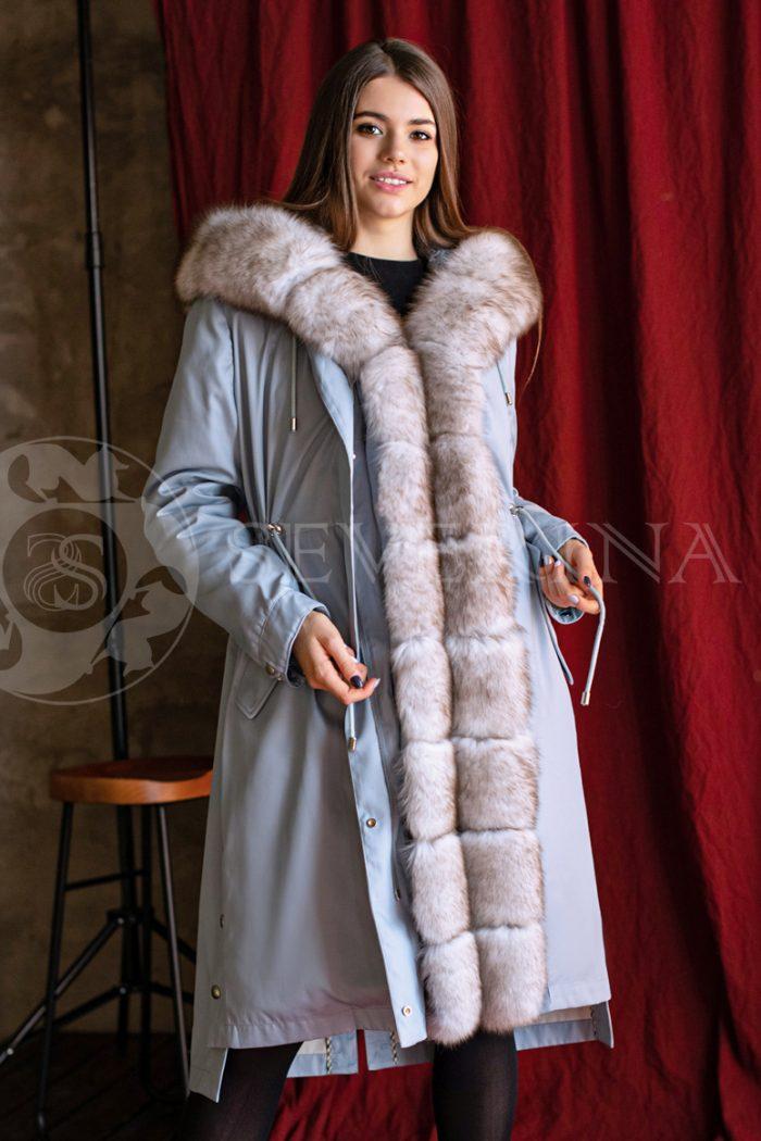 golubaja pesec 4 700x1050 - куртка-парка с отделкой мехом песца