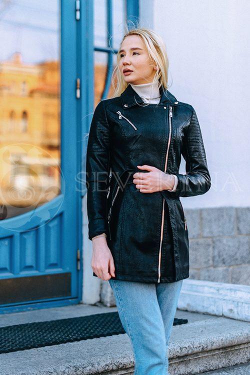 """куртка """"косуха"""" с отделкой из меха орилага"""