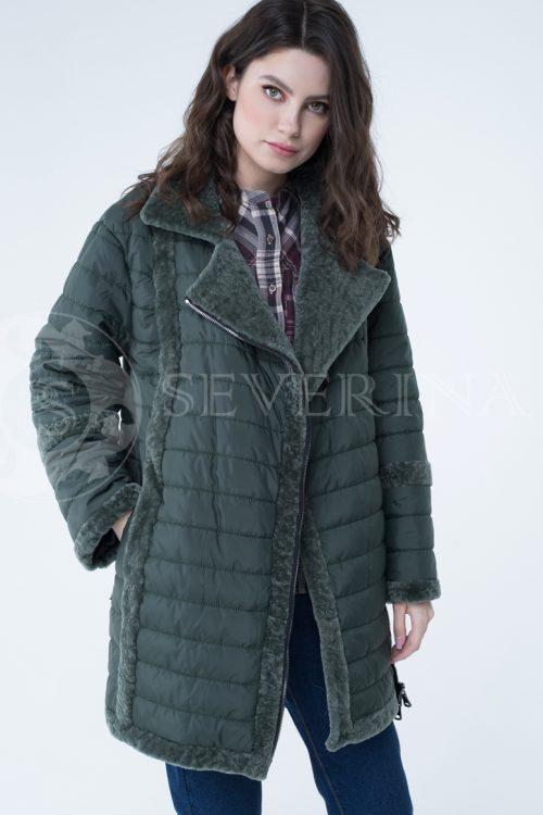 куртка с отделкой из меха овчины