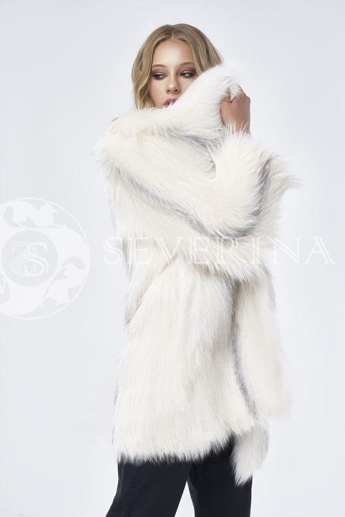 """doletskiy 1720 500x750 - куртка """"косуха"""" из меха овчины, норки и чернобурки"""