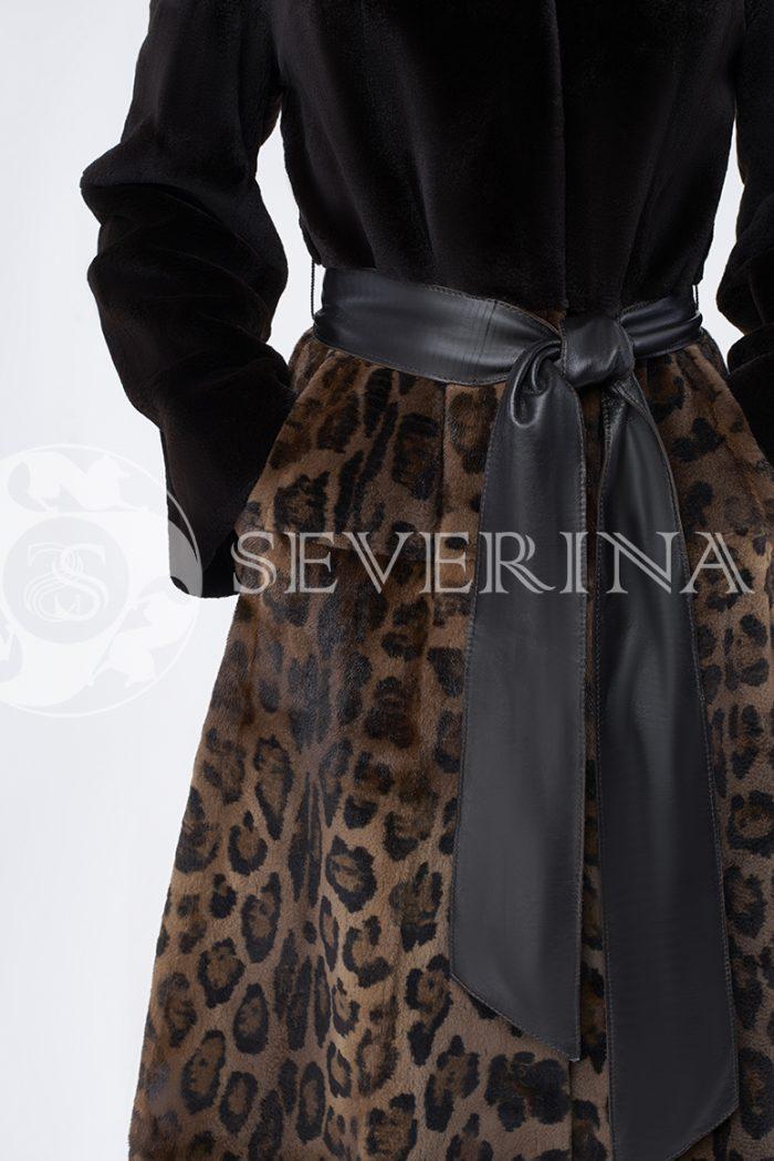 doletskiy 0048 700x1050 - шуба из стриженного меха норки в комбинации с леопардовым принтом