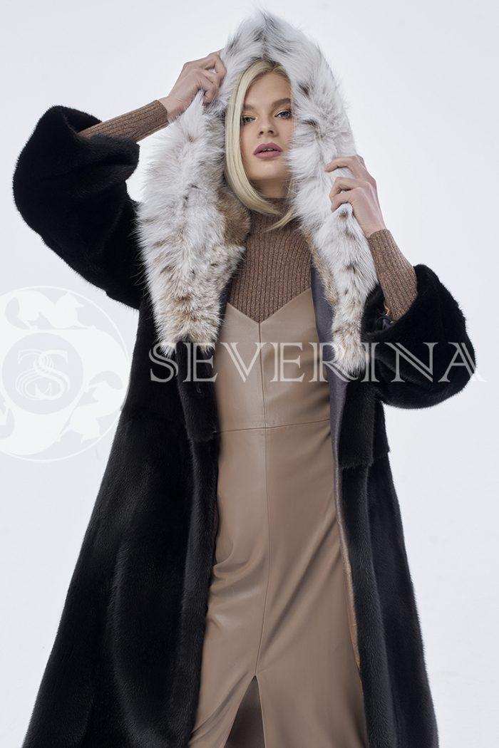 doletskiy 0169 1 700x1050 - шуба из меха скандинавской норки с мехом рыси