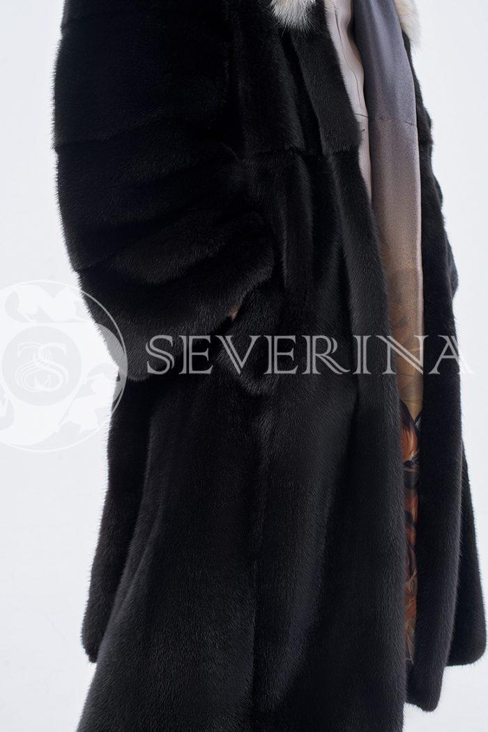 doletskiy 0175 700x1050 - шуба из меха скандинавской норки с мехом рыси
