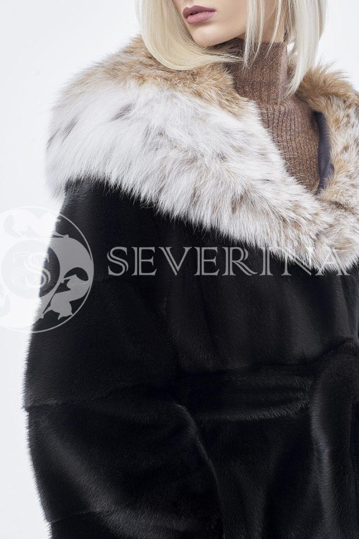 doletskiy 0198 1 700x1050 - шуба из меха скандинавской норки с мехом рыси