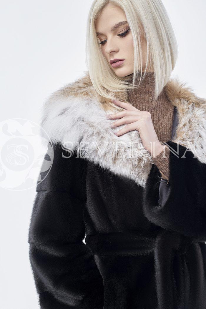 doletskiy 0199 700x1050 - шуба из меха скандинавской норки с мехом рыси