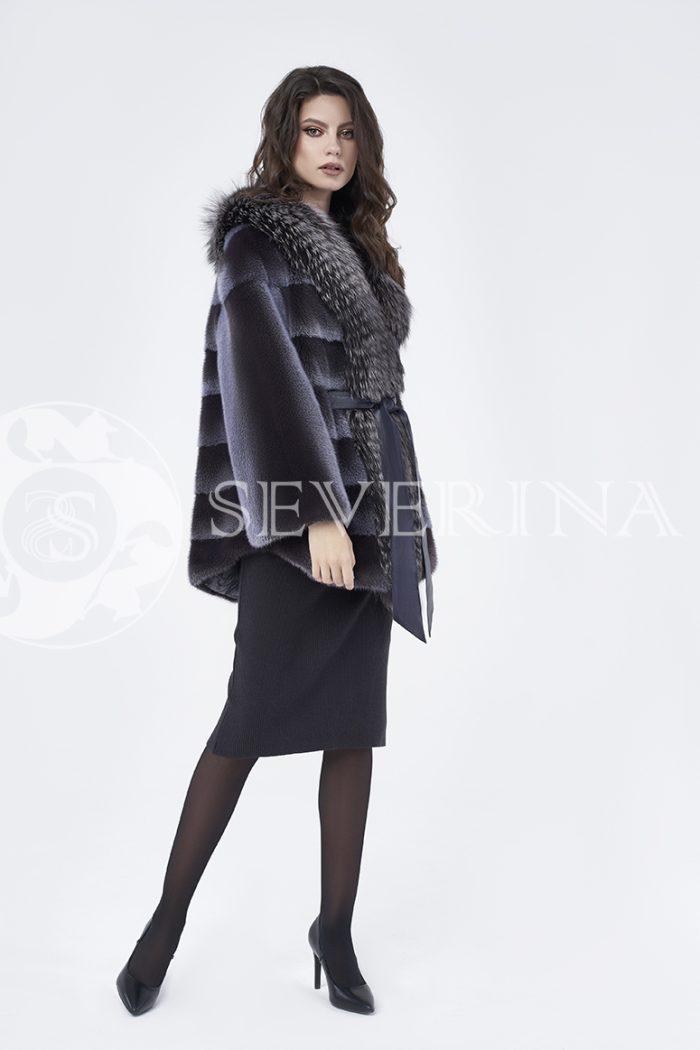 doletskiy 0224 700x1050 - шуба из меха норки с отделкой из меха серебристо-черной лисы