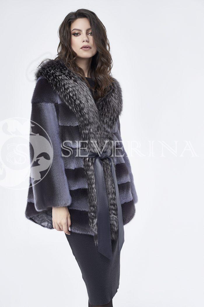 doletskiy 0245 700x1050 - шуба из меха норки с отделкой из меха серебристо-черной лисы