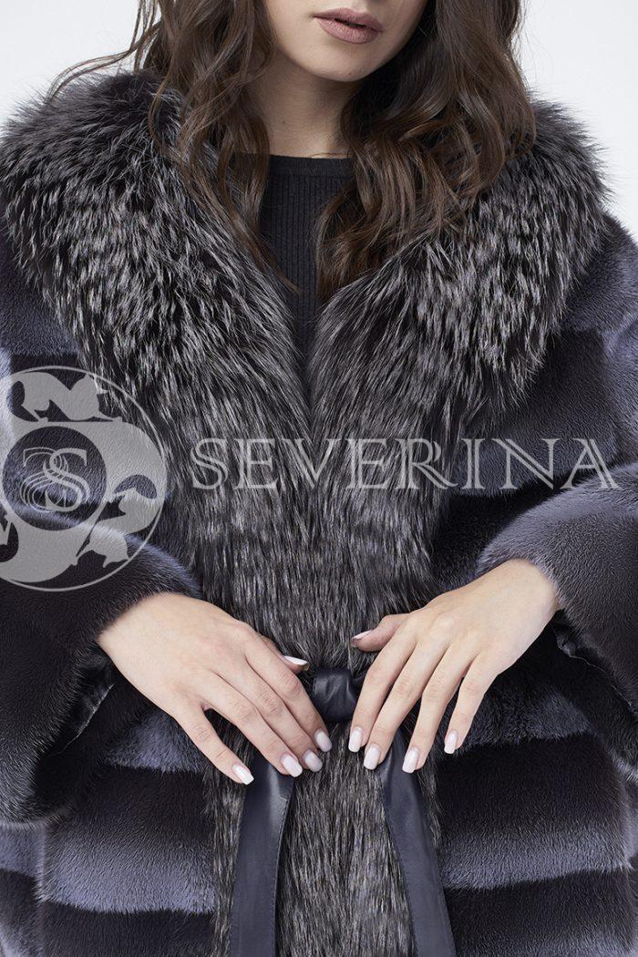 doletskiy 0247 700x1050 - шуба из меха норки с отделкой из меха серебристо-черной лисы