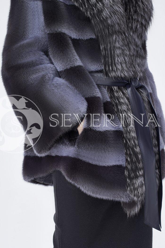 doletskiy 0256 700x1050 - шуба из меха норки с отделкой из меха серебристо-черной лисы