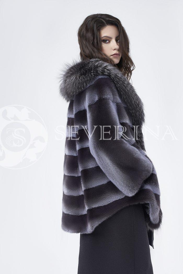 doletskiy 0271 700x1050 - шуба из меха норки с отделкой из меха серебристо-черной лисы