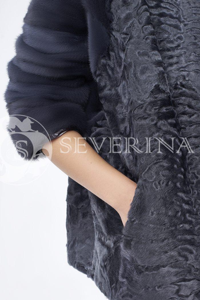 doletskiy 0525 700x1050 - шуба из меха каракуля с отделкой мехом норки