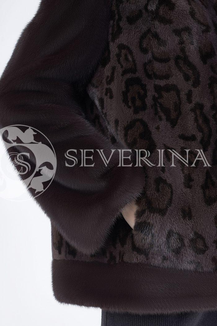 doletskiy 0555 700x1050 - шуба из меха норки с леопардовым принтом