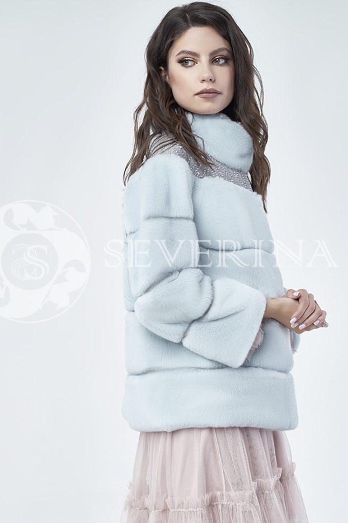 doletskiy 1173 700x1050 - шуба из меха кролика Rex rabbit с вышивкой
