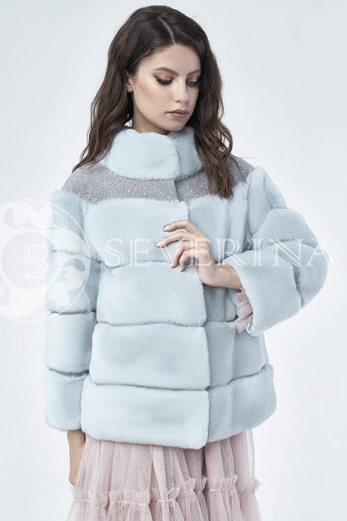 doletskiy 1176 700x1050 - шуба из меха кролика Rex rabbit с вышивкой